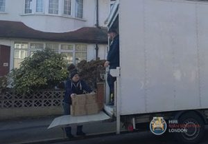 Household moving in London