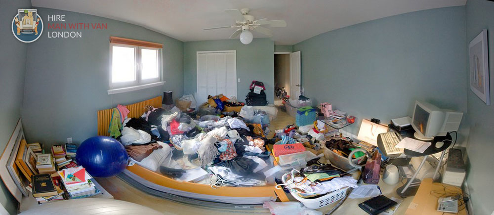 Preparing a Messy Room for a Move